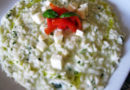 Risotto al basilico, pomodorini e mozzarella