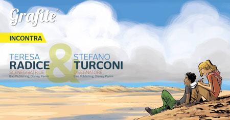 """""""Graphic Novel, raccontare a fumetti""""  a Bari la coppia di autori Disney, Stefano Turconi e Teresa Radice"""