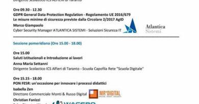 """Taranto-ICS Alfieri-Scuola capofila rete""""Scuola Digitale"""""""