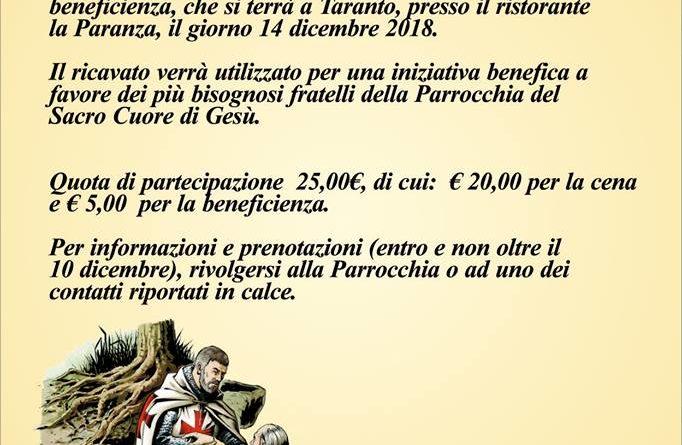 Templari-Cena e Torneo di Burraco per beneficenza