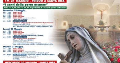 I festeggiamenti per Santa Rita 'Non lasciatevi rubare la speranza'