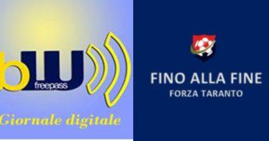 """Rinnovato il connubio con il blog """"Fino alla fine Forza Taranto"""" e """"Blufree"""""""